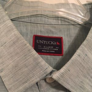UNTUCKit Men's Linen S/S Button up Shirt Sz XL